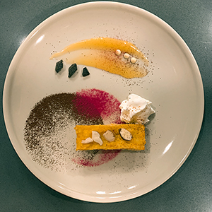 plated-almond-orange-cake-paella-cooking-class