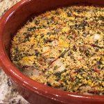 Terra-Cotta-Cazuela-12.8-inches-baked-rice-quinoa-shallots-saffron-parsley