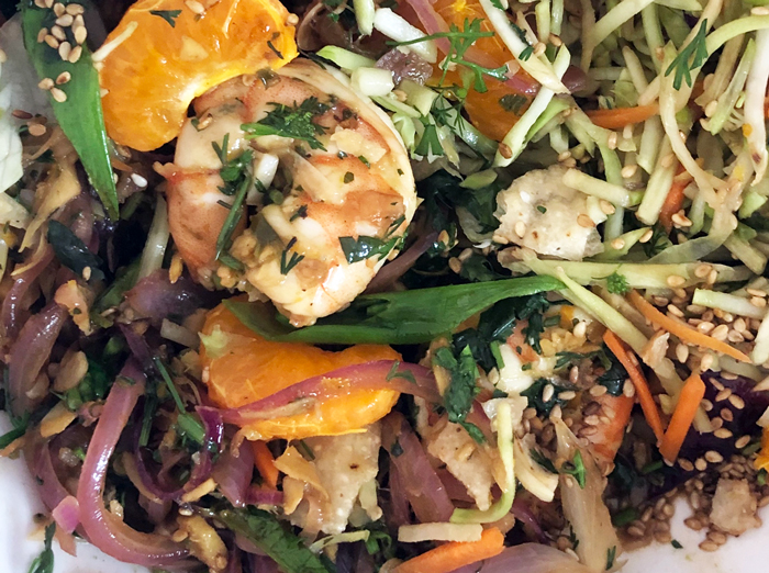cropped-Mexican-Asian-fusion-orange-ginger-stir-fry-shrimp-in-taco-bowl-garnish-sesame-seeds-online-cooking-class