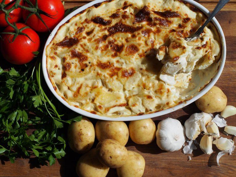 cream, potatoes, gratin