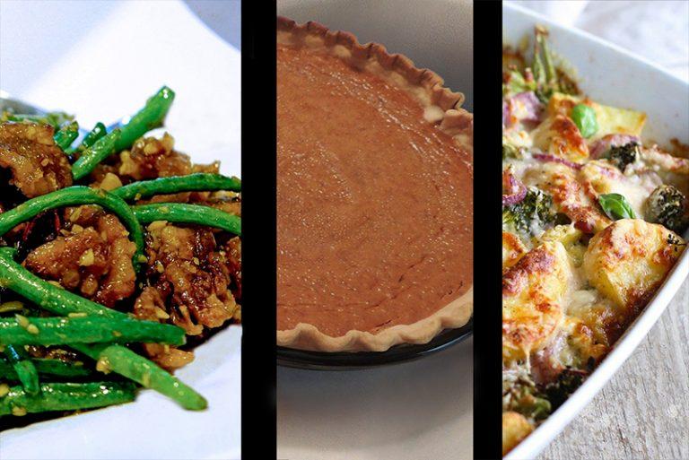 classic-holiday-recipes-pumpkin-pie-green-bean-casserole-potatoes-gratin